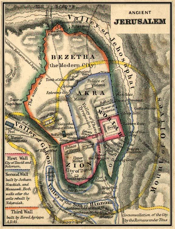 Image source www.menorahcoinproject.org Map of Ancient Jerusalum
