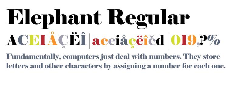 elephant-font