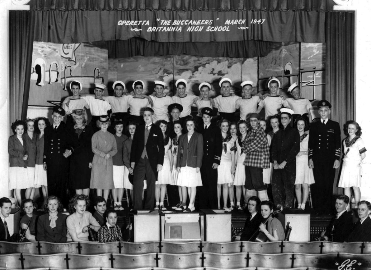 "High School: Cast of Operetta, ""The Buccaneers"" (1947.)"