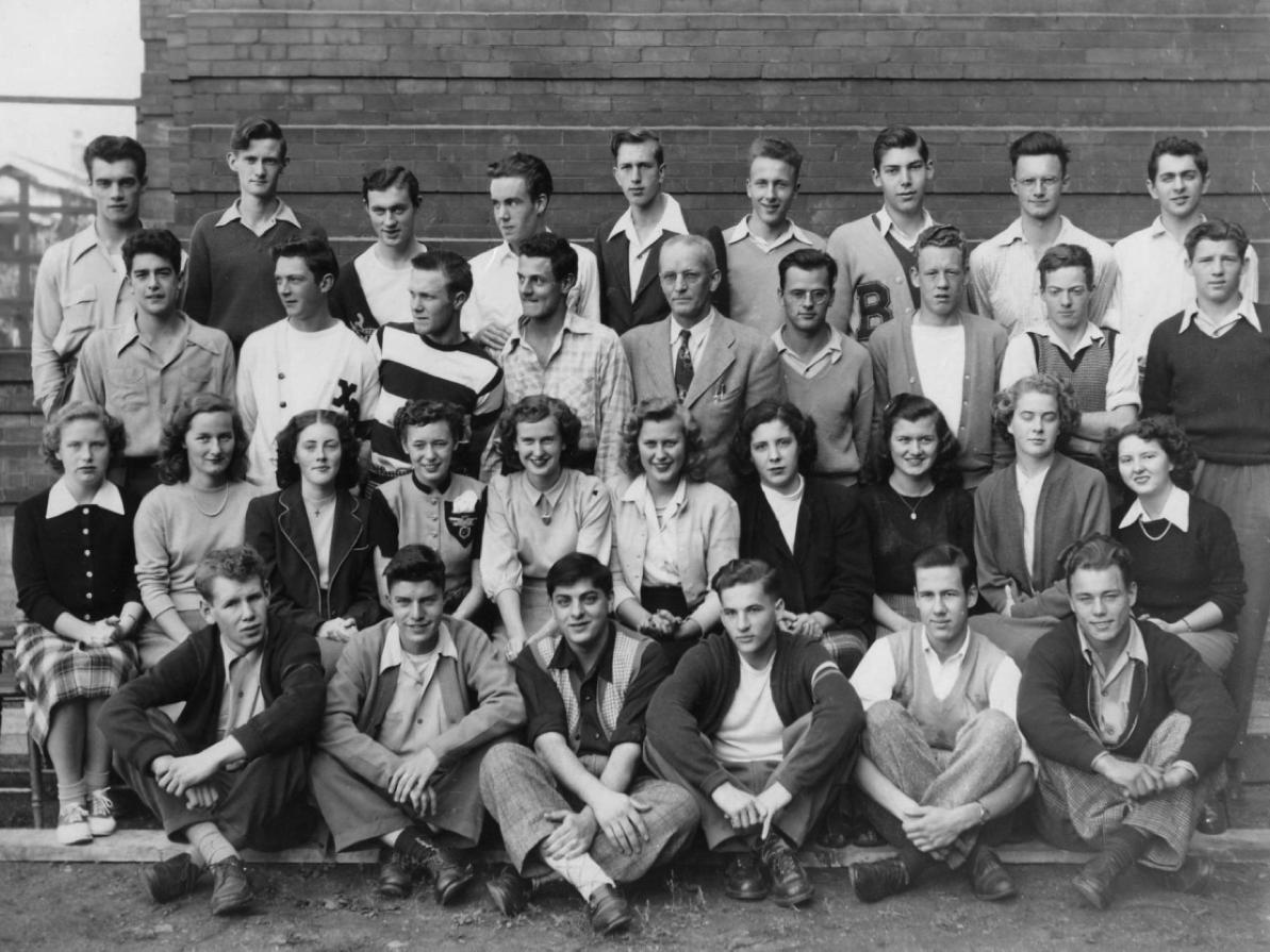 Grade 12 Homeroom Class (1949.)