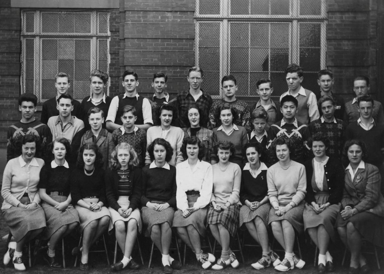 Grade 12 Homeroom Class (1940.)